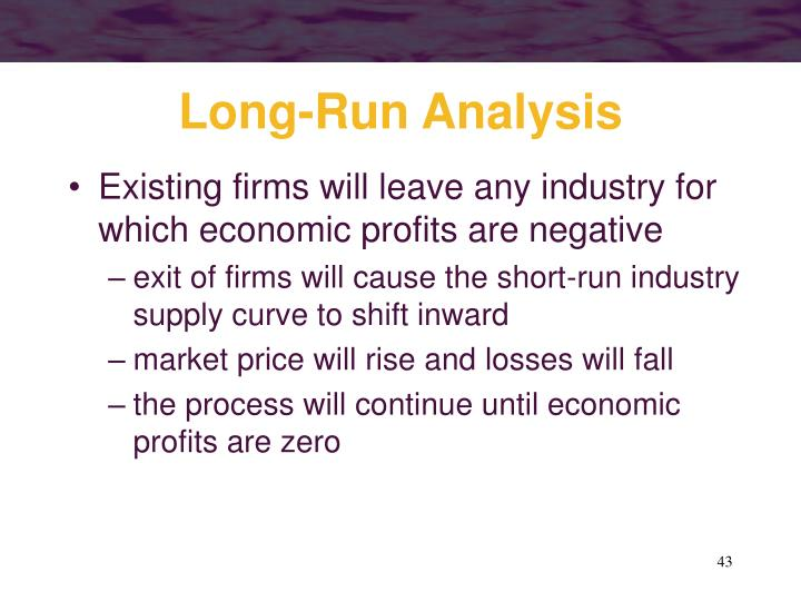 Long-Run Analysis