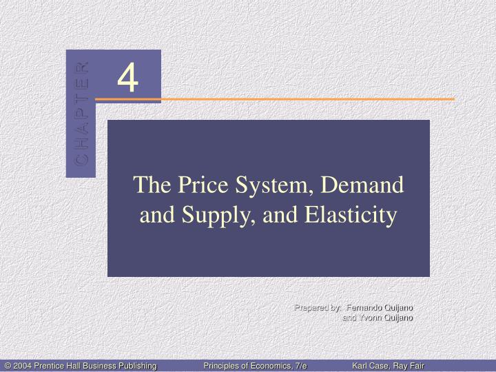 The price system demand and supply and elasticity