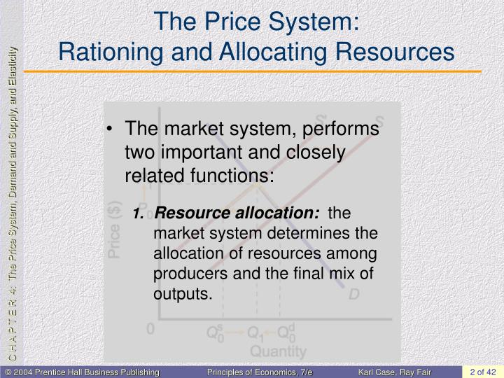 The price system rationing and allocating resources