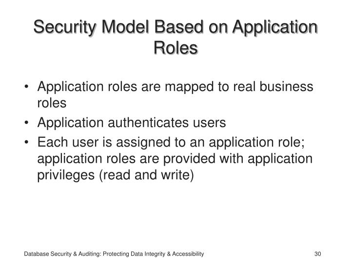 Security Model Based on Application Roles