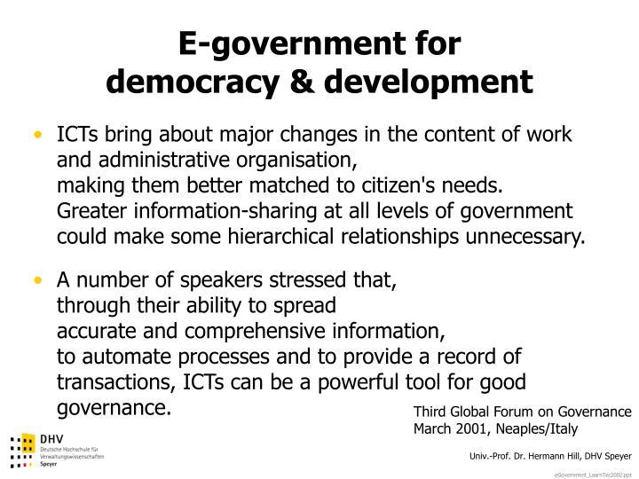 E-government for