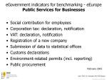 egovernment indicators for benchmarking eeurope public services for businesses