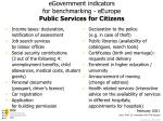 egovernment indicators for benchmarking eeurope public services for citizens