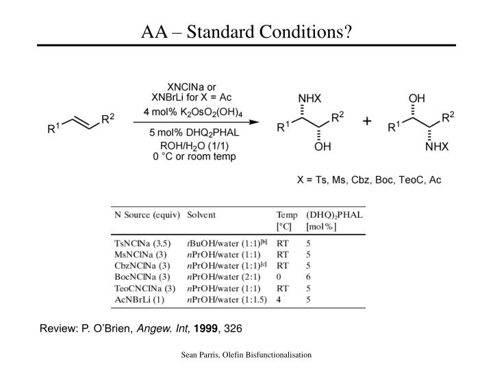 AA – Standard Conditions?