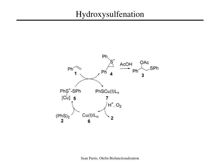Hydroxysulfenation