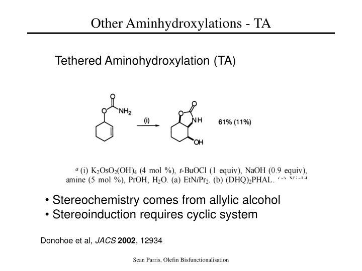 Other Aminhydroxylations - TA