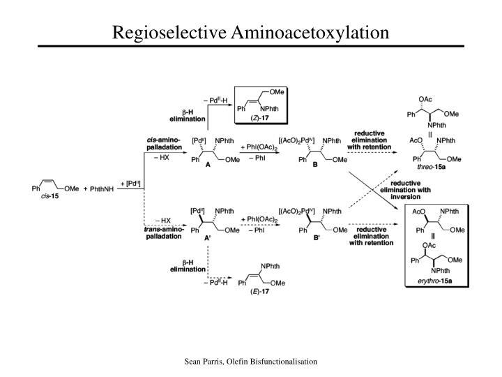 Regioselective Aminoacetoxylation