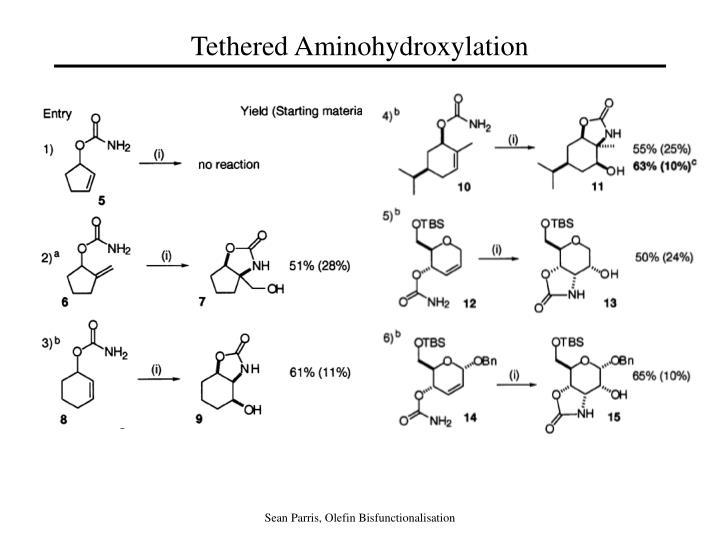 Tethered Aminohydroxylation