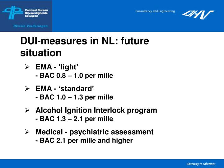 DUI-measures in NL: future