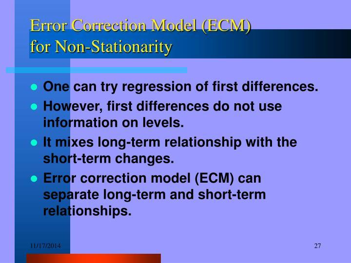 Error Correction Model (ECM)