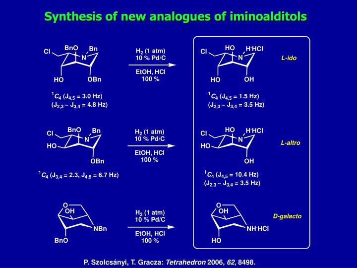 Synthesis of new analogues of