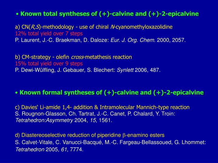 Known total syntheses of (+)-