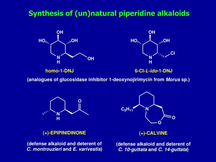 Synthesis of (un)natural piperidine alkaloids