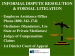 informal dispute resolution formal litigation