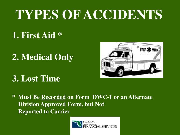 TYPES OF ACCIDENTS