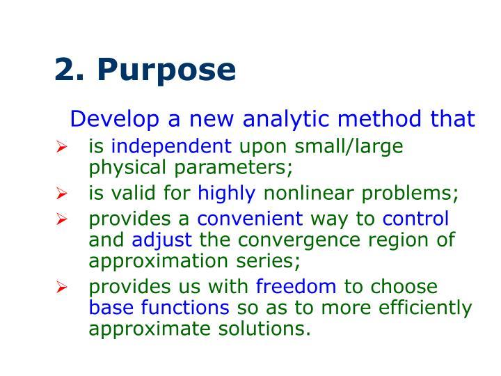 2. Purpose