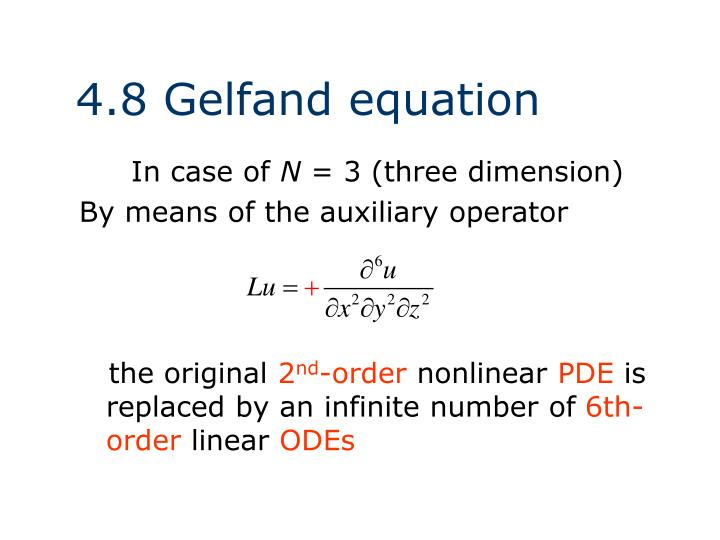 4.8 Gelfand equation