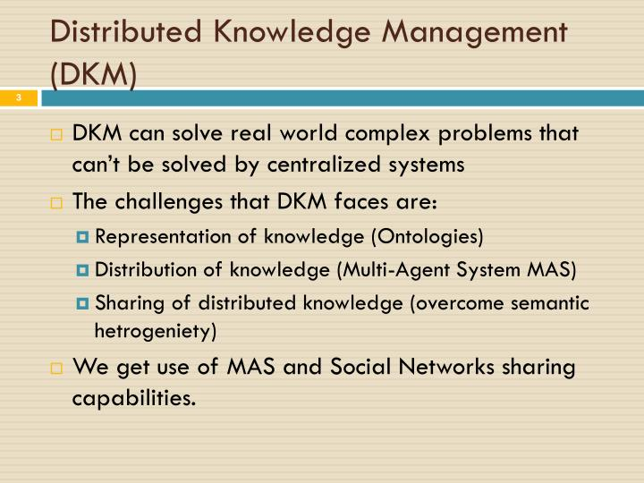 Distributed Knowledge Management (DKM)