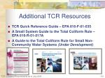 additional tcr resources1