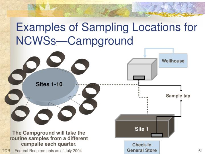 Examples of Sampling Locations for NCWSs—Campground