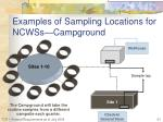 examples of sampling locations for ncwss campground1