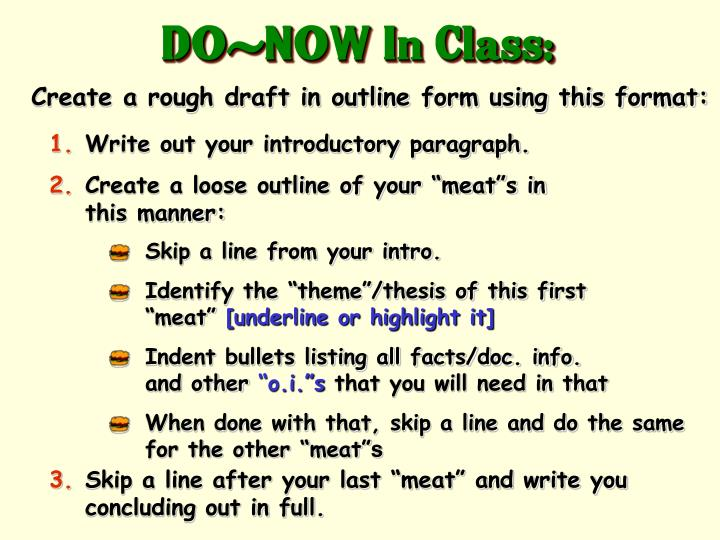 DO-NOW In Class: