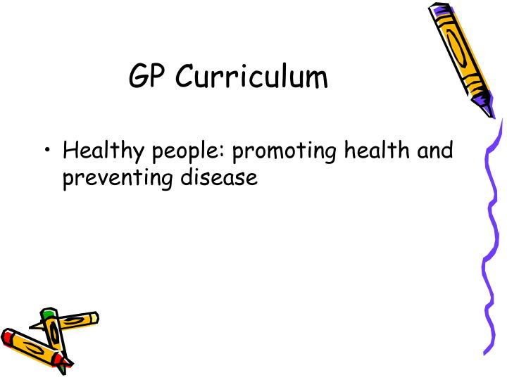 Gp curriculum
