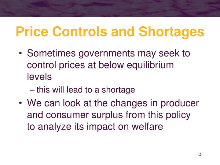 Price Controls and Shortages