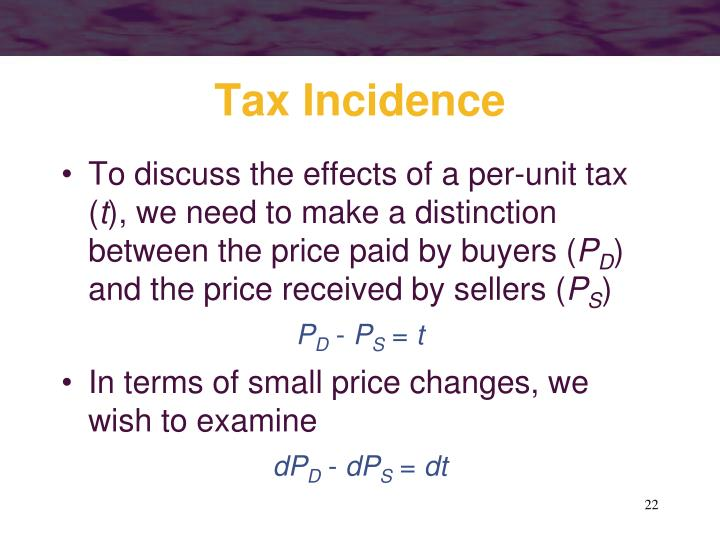 Tax Incidence