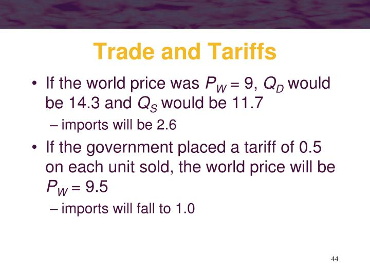 Trade and Tariffs