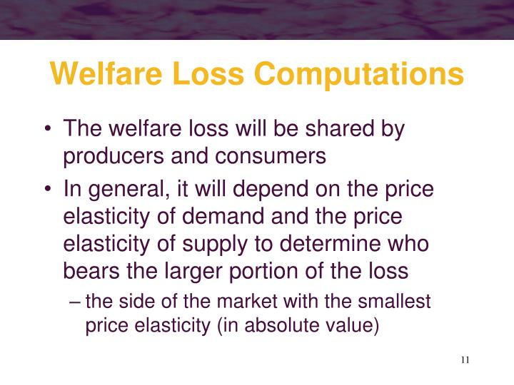 Welfare Loss Computations