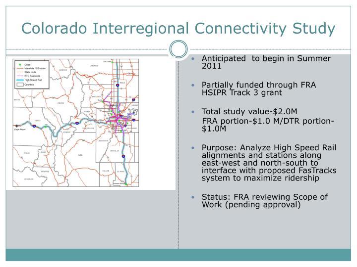 Colorado Interregional Connectivity Study