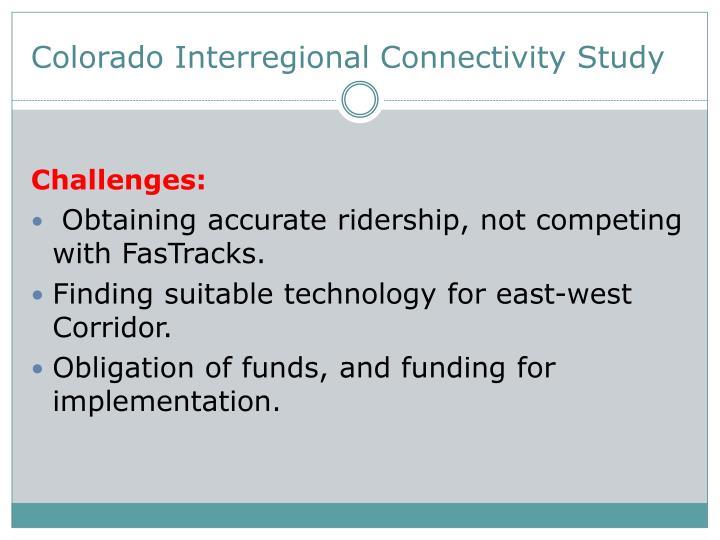 Colorado Interregional Connectivity