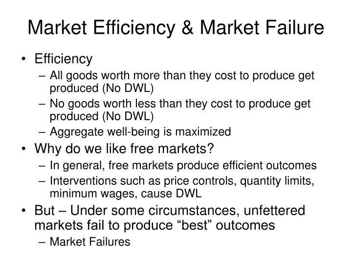 Market Efficiency & Market Failure