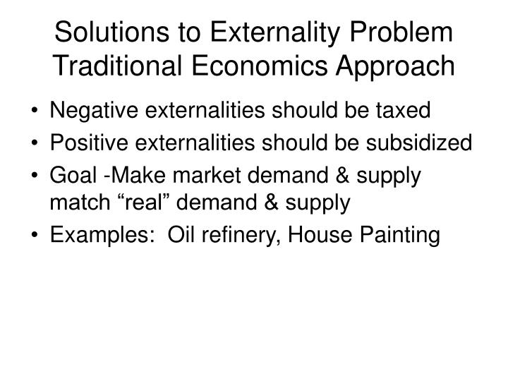Solutions to Externality Problem