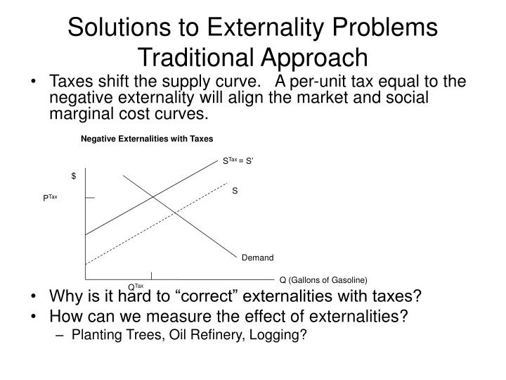 Negative Externalities with Taxes