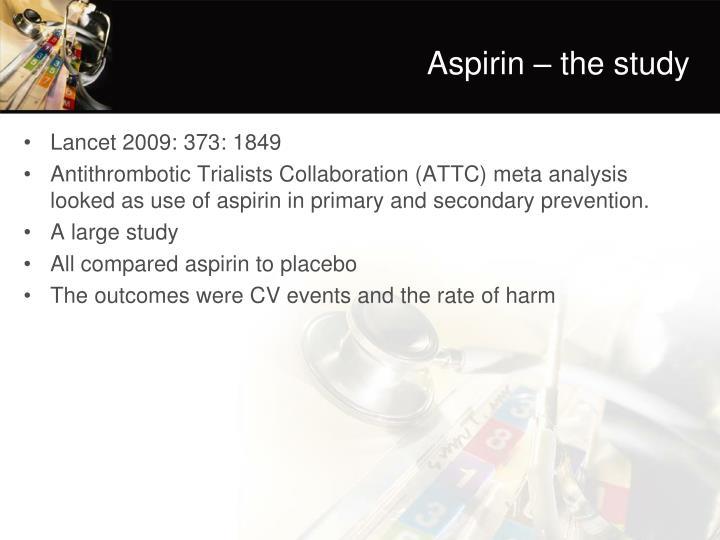 Aspirin – the study