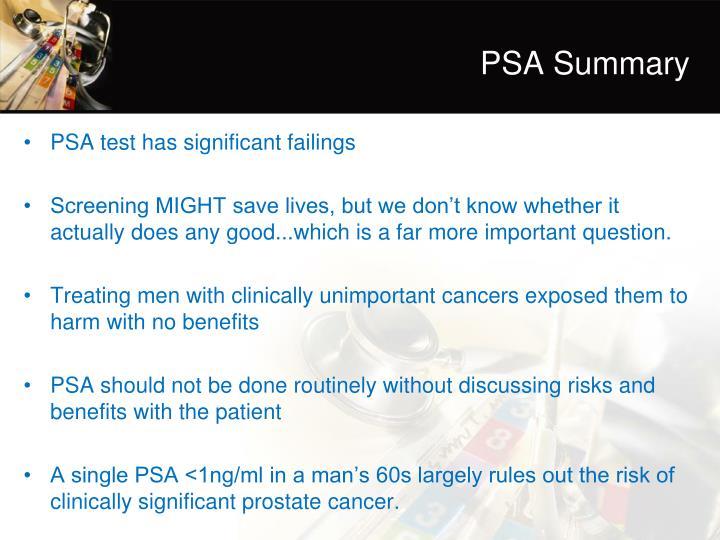PSA Summary