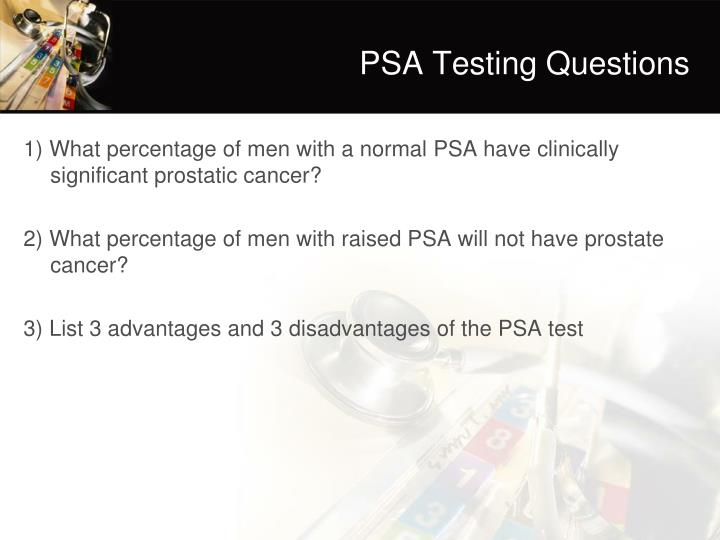PSA Testing Questions
