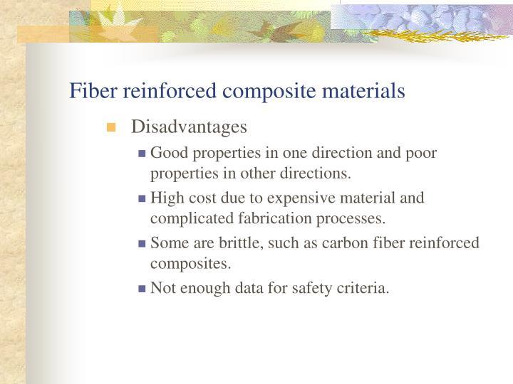Fiber reinforced composite materials