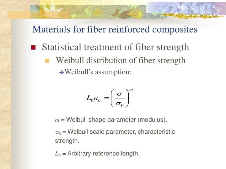 Materials for fiber reinforced composites
