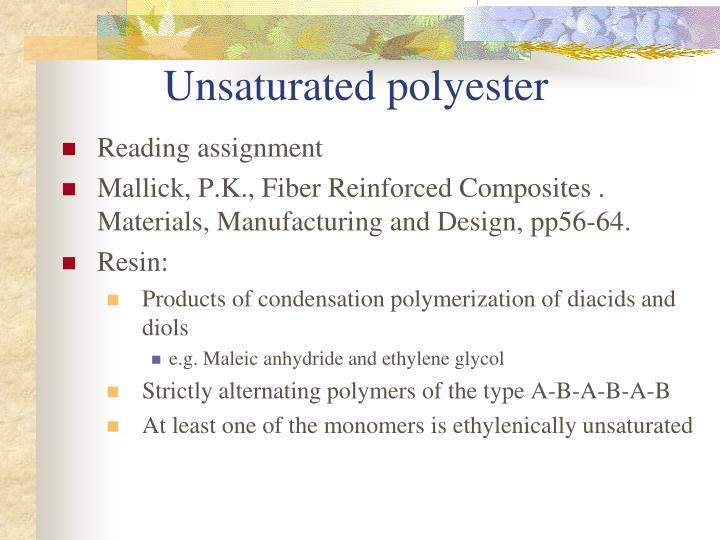 Unsaturated polyester