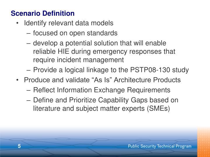 Scenario Definition