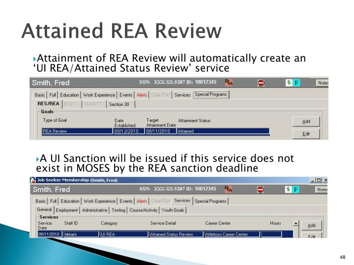 Attained REA Review