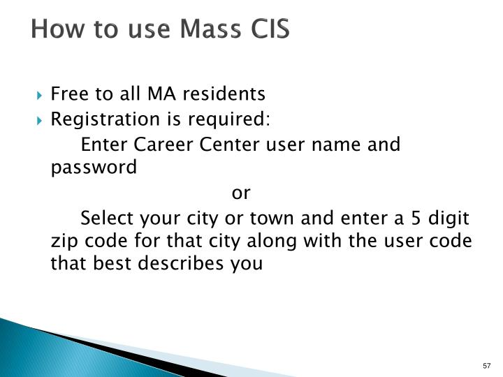 How to use Mass CIS