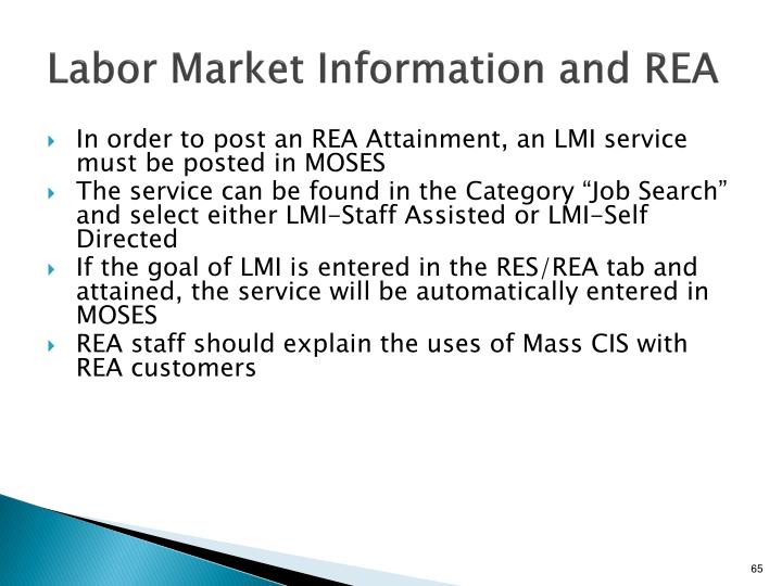 Labor Market Information and REA