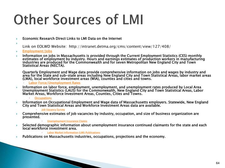 Other Sources of LMI