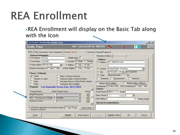 REA Enrollment