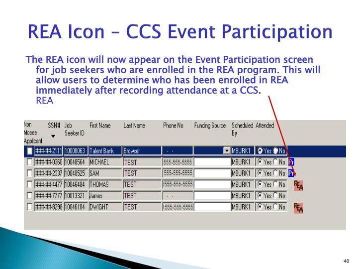 REA Icon – CCS Event Participation