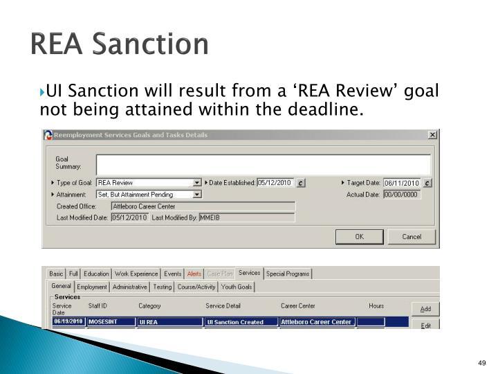 REA Sanction